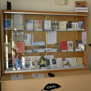 Rav'n exhibit of published authors copyright Anna Martineau Merritt