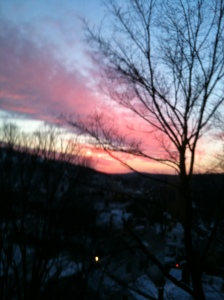 Winter sunset Fitchburg